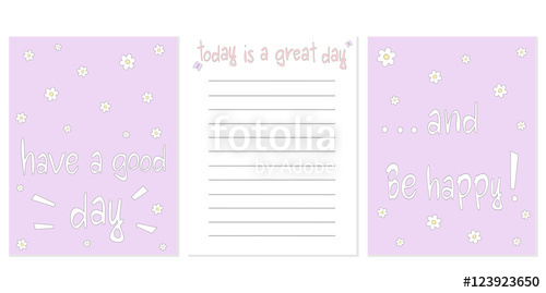 Drawn notebook printable Inspirational template template for