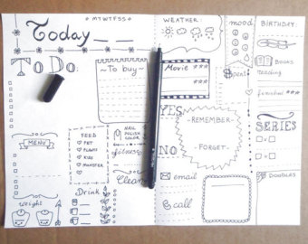 Drawn notebook printable Days  more daily and