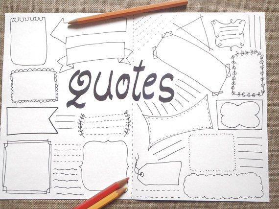 Drawn notebook printable Home 25+ printable Journal on
