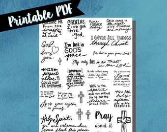 Drawn notebook printable Bible journaling bible notebook drawn
