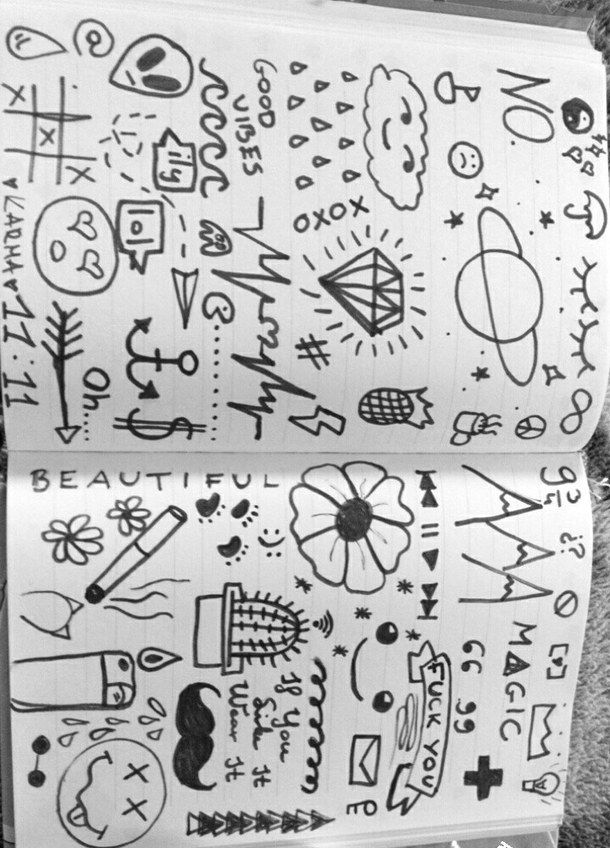 Drawn notebook simple #1