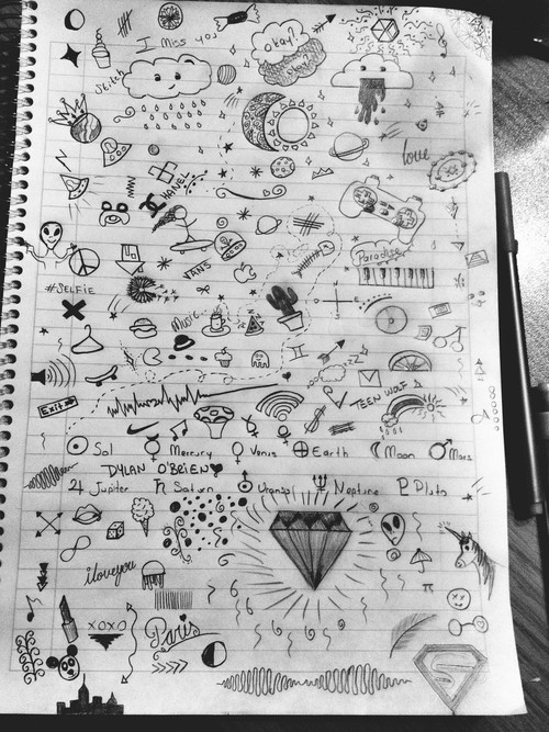 Drawn notebook simple Notebook notebook doodles Google tumblr