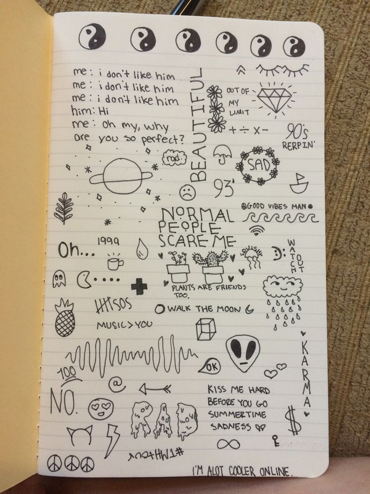 Drawn notebook simple #11