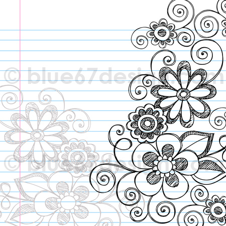 Drawn notebook simple Border Drawn Flickr Broderie Notebooks