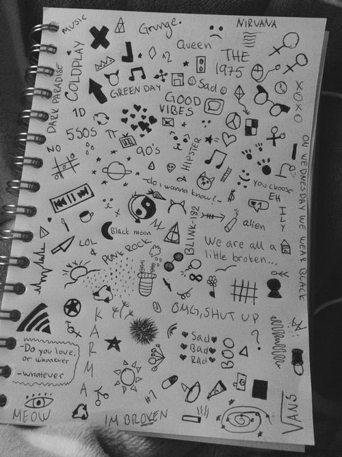 Drawn notebook simple 25+ notebook doodles Google doodles