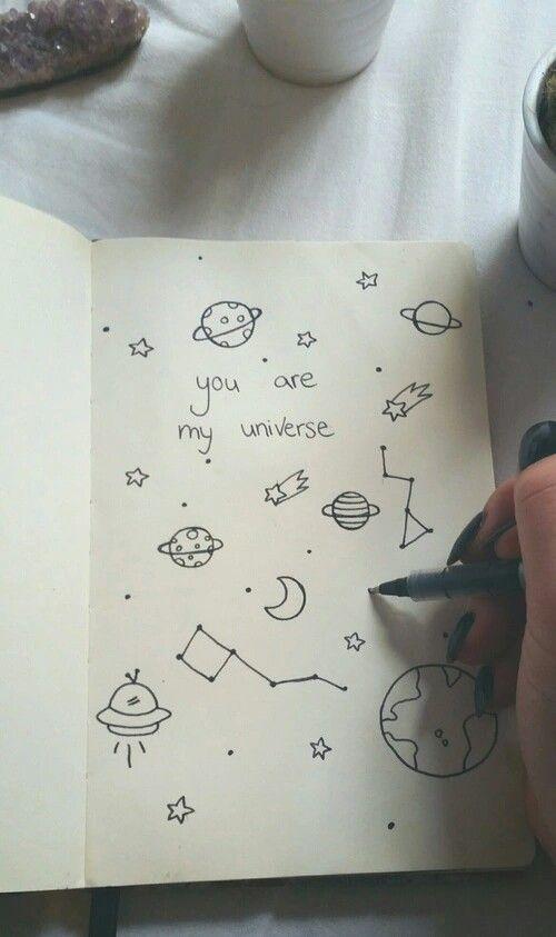 Drawn notebook sketch Doodles Notebook Best Notebook universe