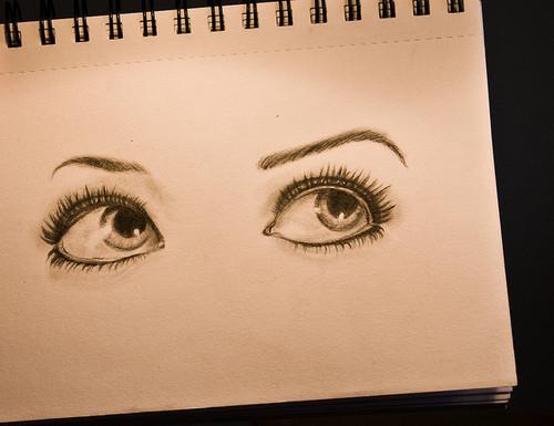 Drawn notebook sketch Drawn notebook Beautiful a eyes
