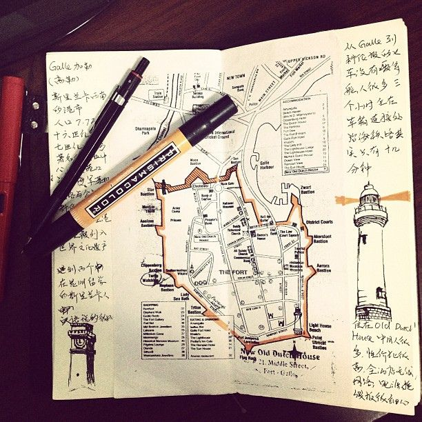 Drawn notebook sketch And 25+ maps hand ideas