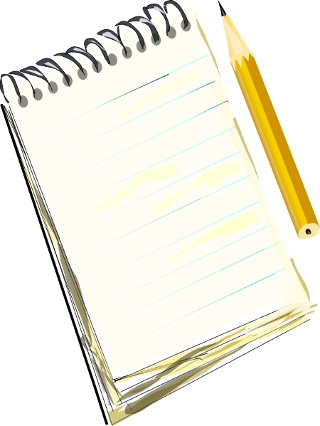 Notebook clipart notepad Pencil in clip Notepad drawing