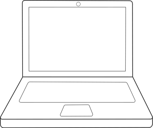 Drawn notebook svg Vector Free laptop 964 /