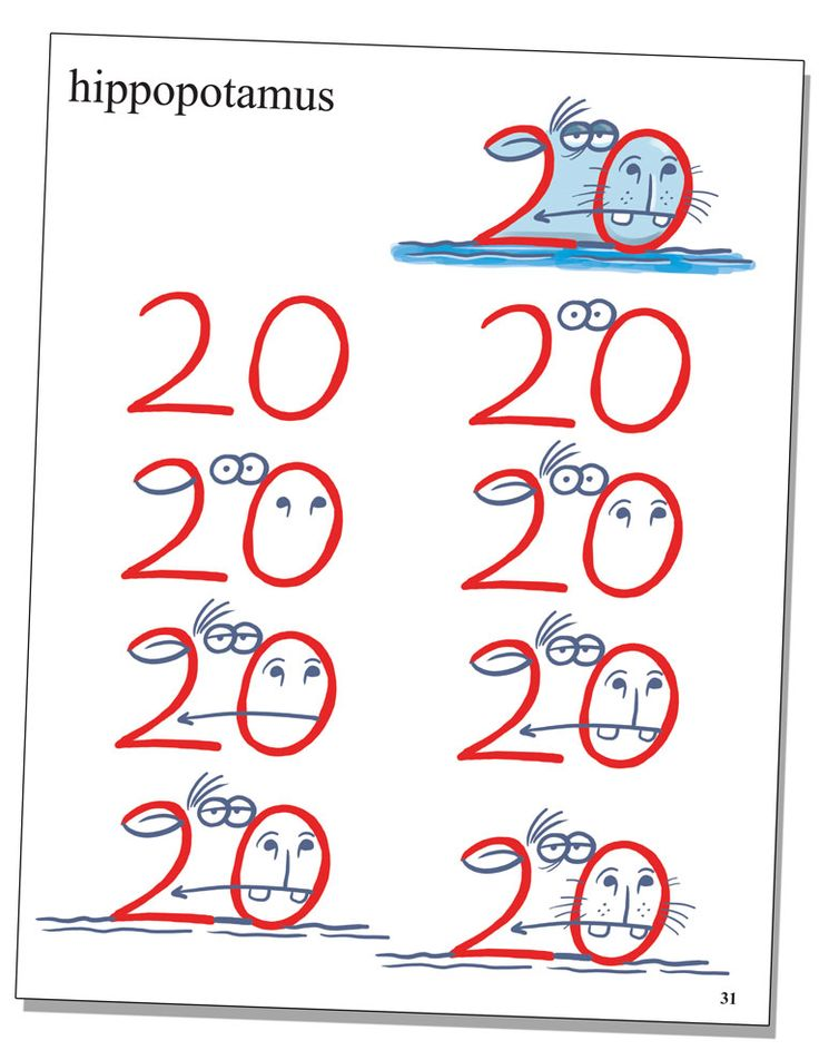 Drawn number animal Best numbers my with Animals