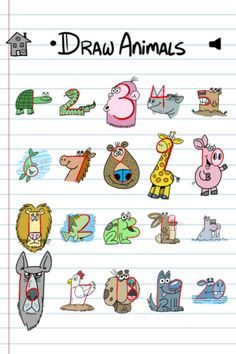 Drawn number animal With can how learn with