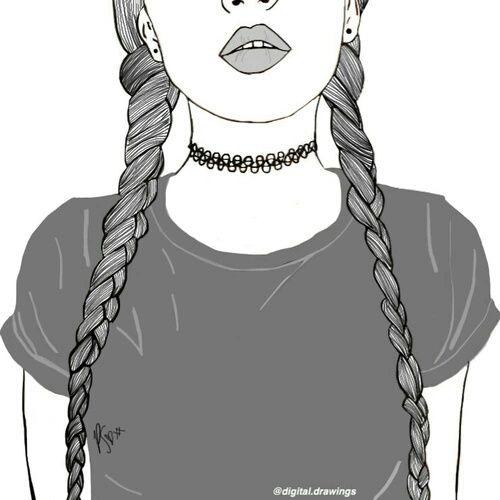 Drawn number black and white Girl swag White 25+ girl
