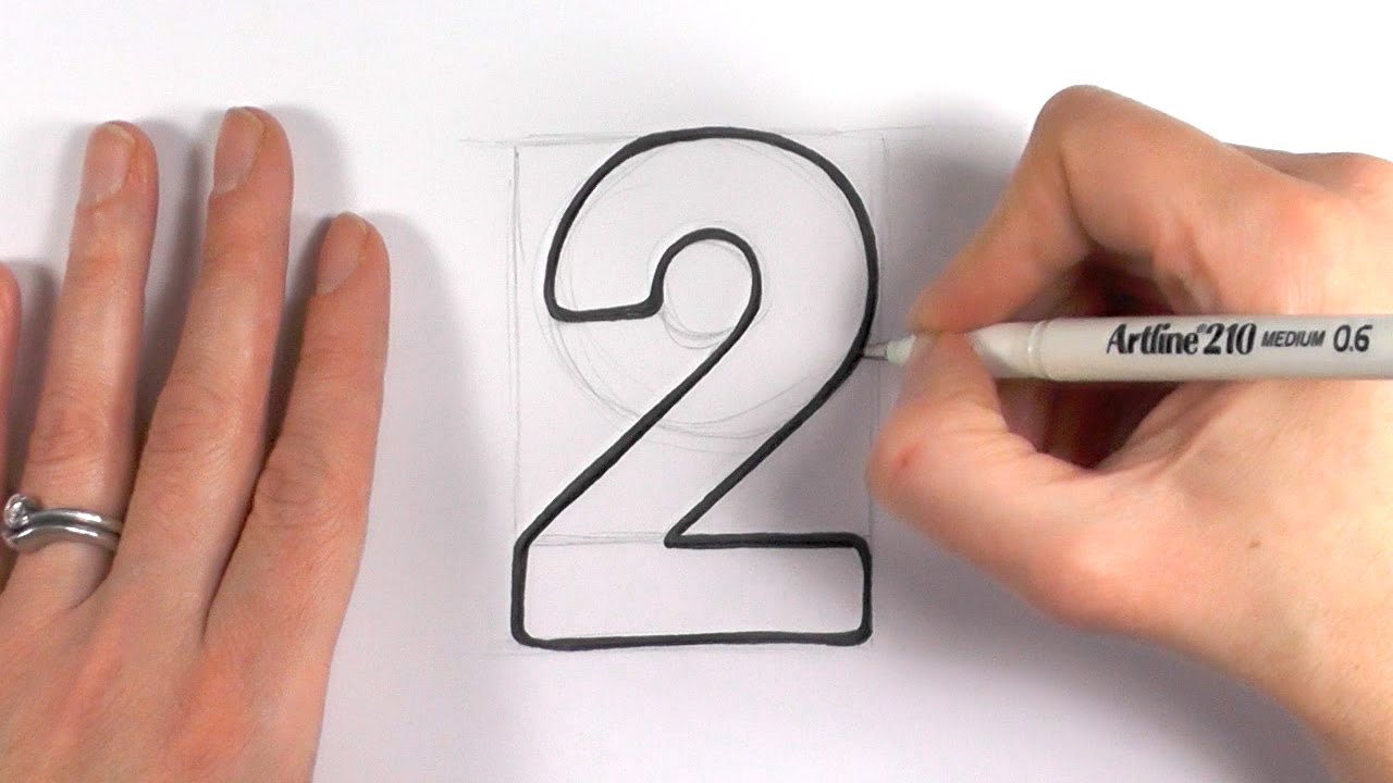 Drawn number block A Number Cartoon Draw to