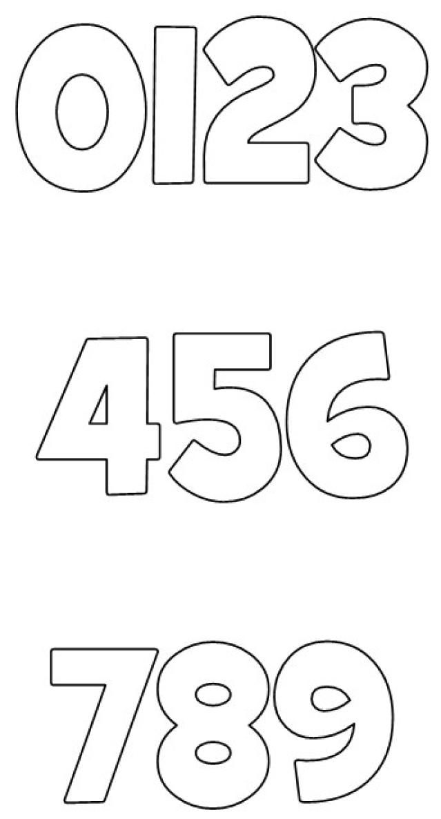Drawn number block Free fonts Numbers and 20+