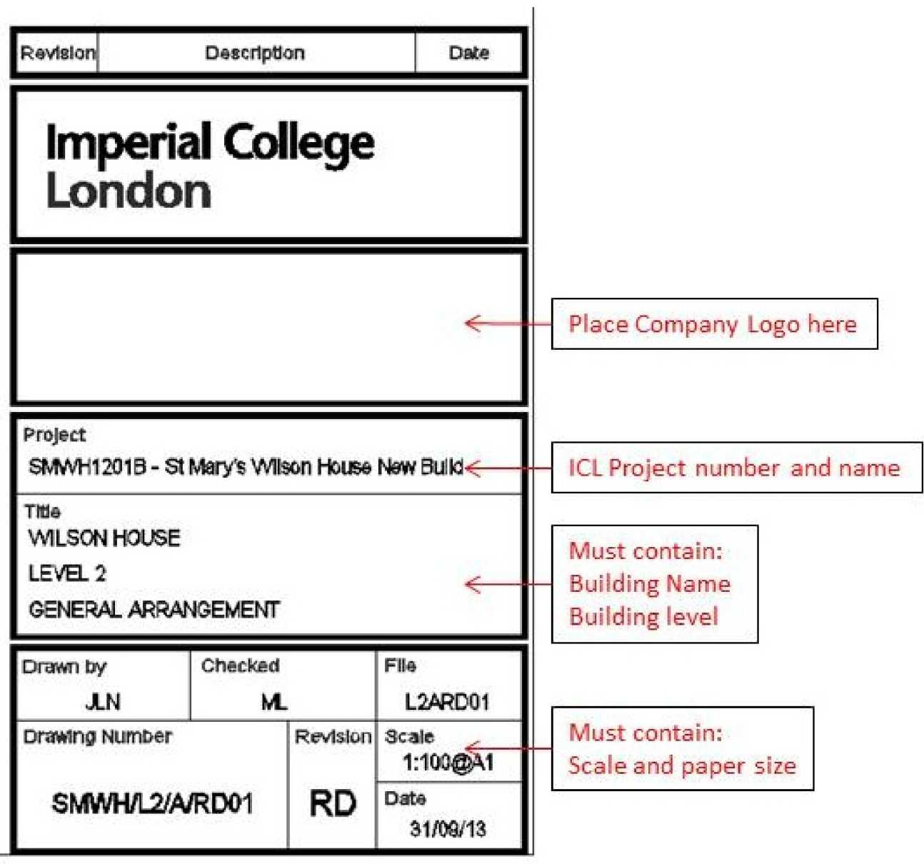 Drawn number block London Block Title College of