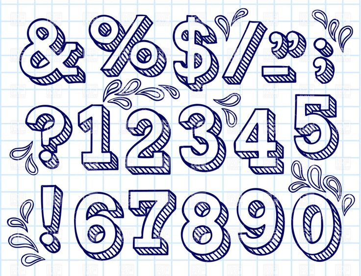 Drawn number doodle On 226 images more on
