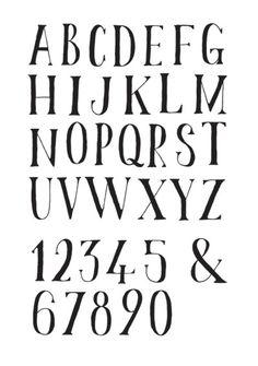 Drawn number old Flickr  Script font STENCIL