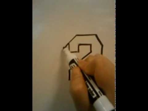 Drawn number HOW  (2) YouTube TO