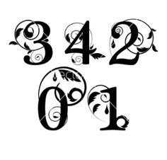 Drawn number fancy Fancy fonts Fonts results free