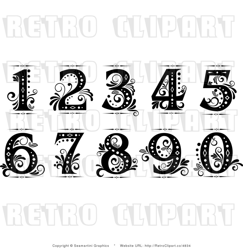 Drawn number colorful Drawing Numbers  ideas Cursive