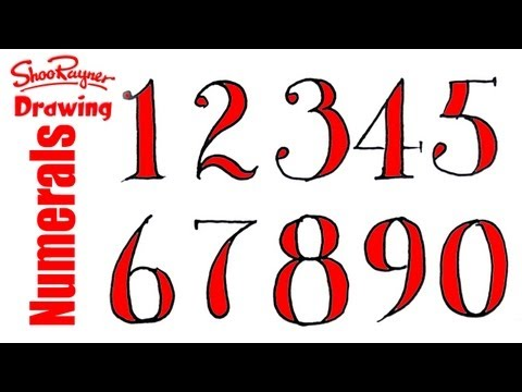 Drawn number By How Doodles Numbers Sketches