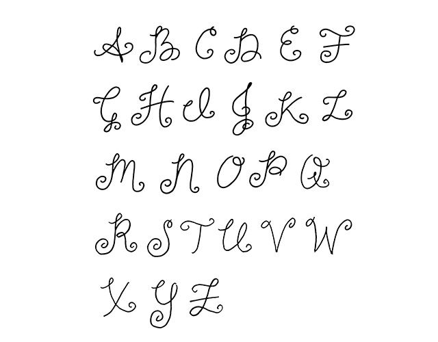 Drawn number fancy font Alphabet in to Nancy Workshop
