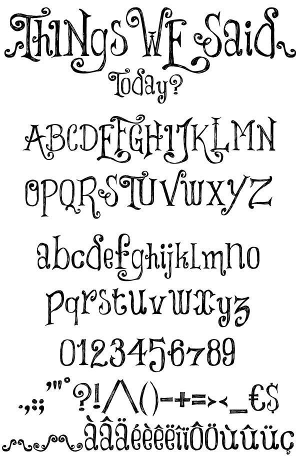 Drawn number fancy font Fonts We font Number COM