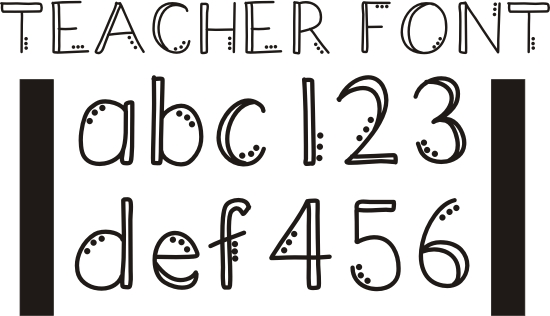 Drawn number fancy font 42 Fonts Teachers Junkie Free
