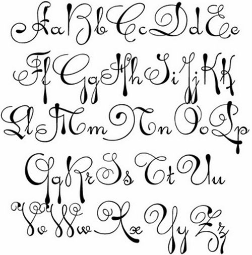 Drawn number fancy writing 25+ whirly fonts swirly on
