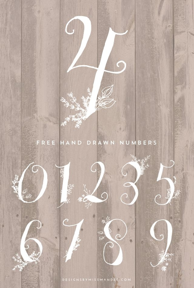 Drawn number fun Fonts on Designs best fun