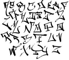 Drawn number graffito Graffiti (Gangster) Ideas  Letters
