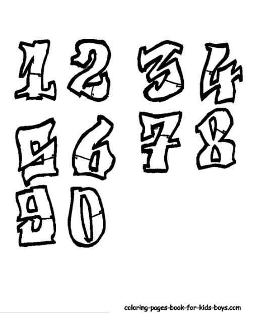 Drawn number graffito : graffiti Link – Seven