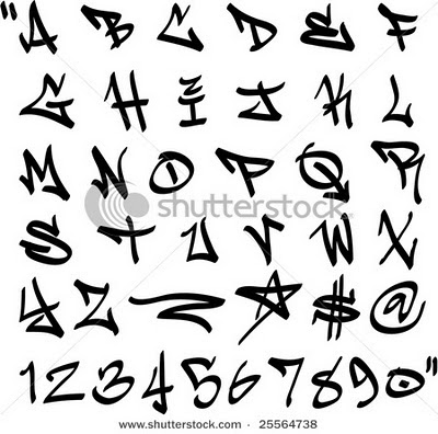 Drawn number graffito Alphabet numbers Graffiti Letters Alphabet