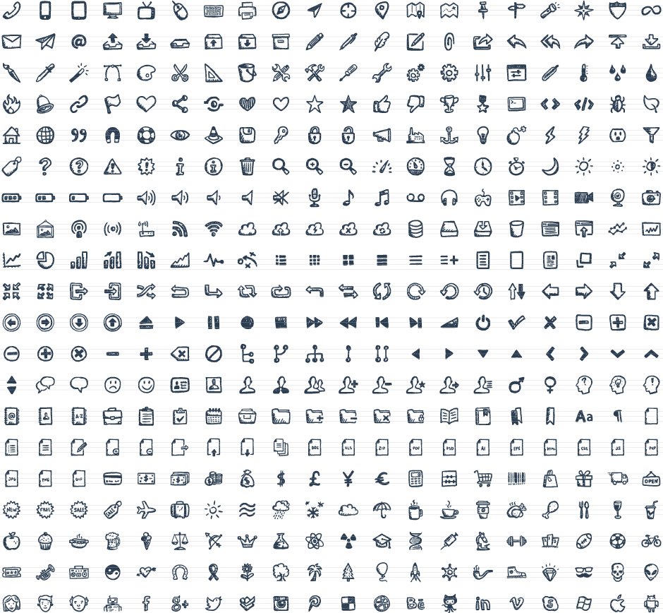 Drawn number hand drawn Hand 400 Icons Hand Jolly
