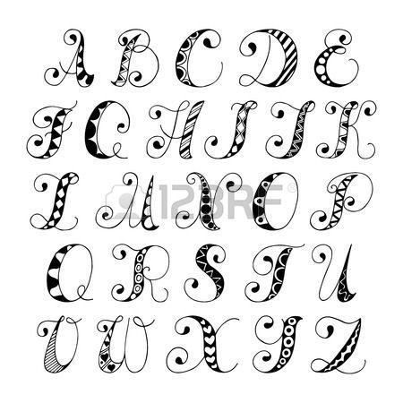 Drawn number hand lettering Illustration drawn alphabet white Best
