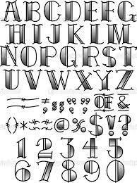 Drawn number hand lettering Journal alphabet images drawn hand