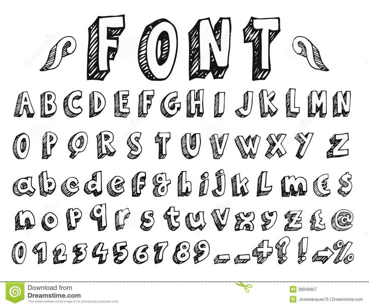 Drawn number hand lettering Google best lettering easy images