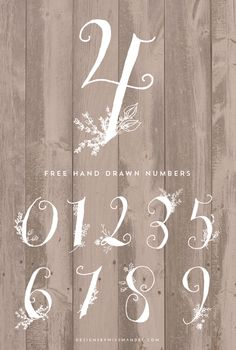 Drawn number hand lettering Numbers Miss all Thank Stunning