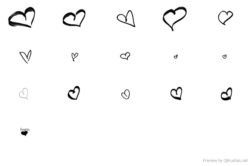 Drawn number heart #3