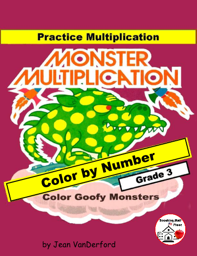 Drawn number colorful Number a facts Multiplication by