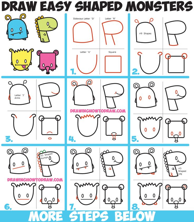Drawn number monster Pinterest and Easy ideas from