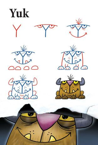 Drawn number monster Monsters 25+ Letters Best Monsters