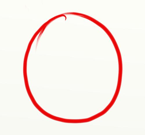 Drawn number red circle Nadiya Marker Jewelry · ·