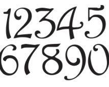 Drawn number spray paint Ideas Number stencils on Font
