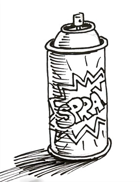Drawn number spray paint – How Rayner Author spray