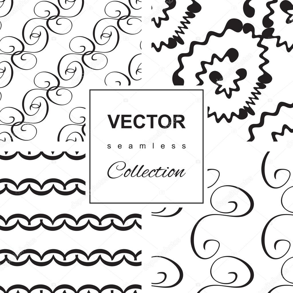 Drawn number swirly Or background Vector Swirly hand