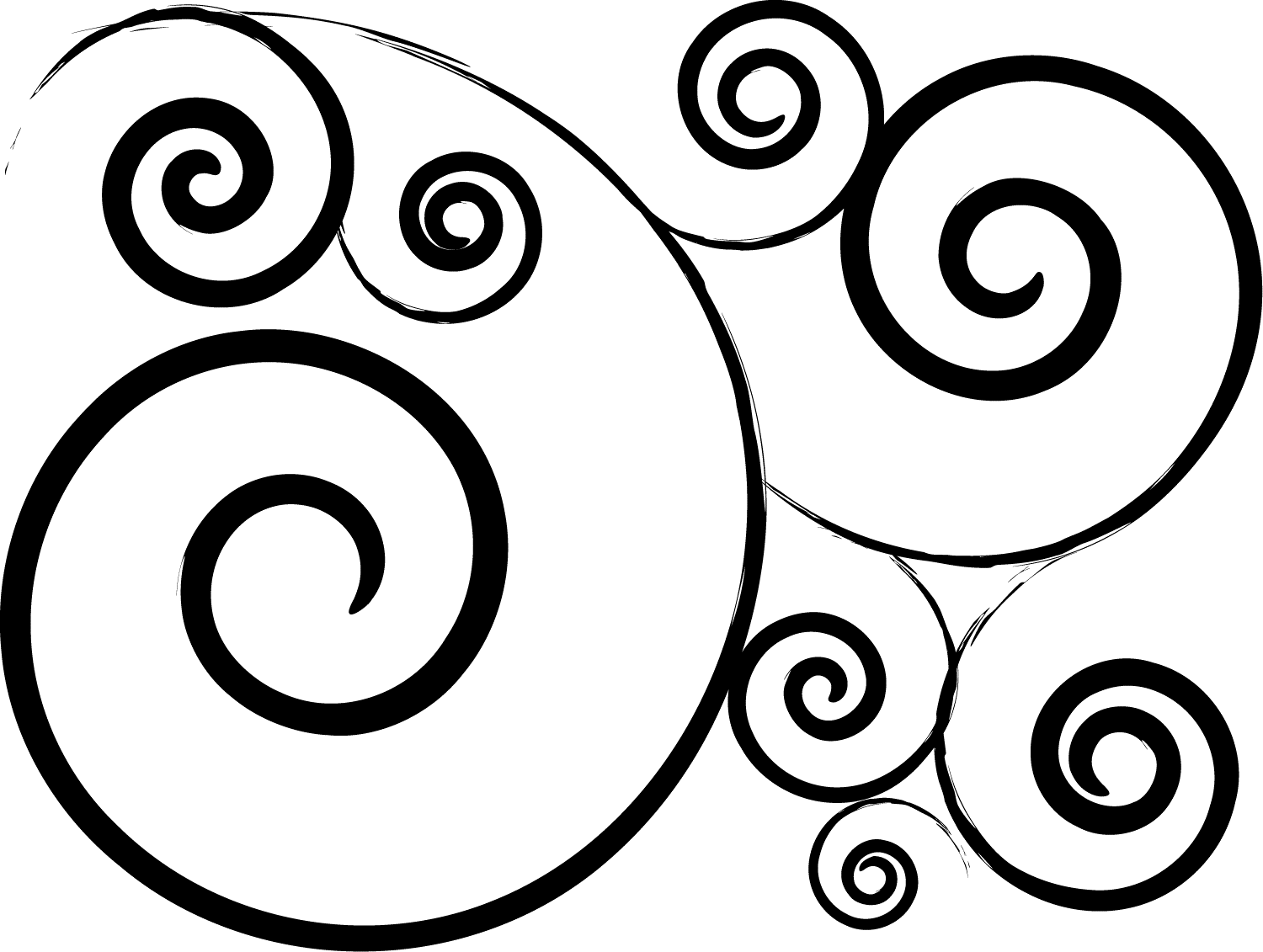 Line Art clipart swirls Clipart Photoshop swirl+clip+art For Brushes