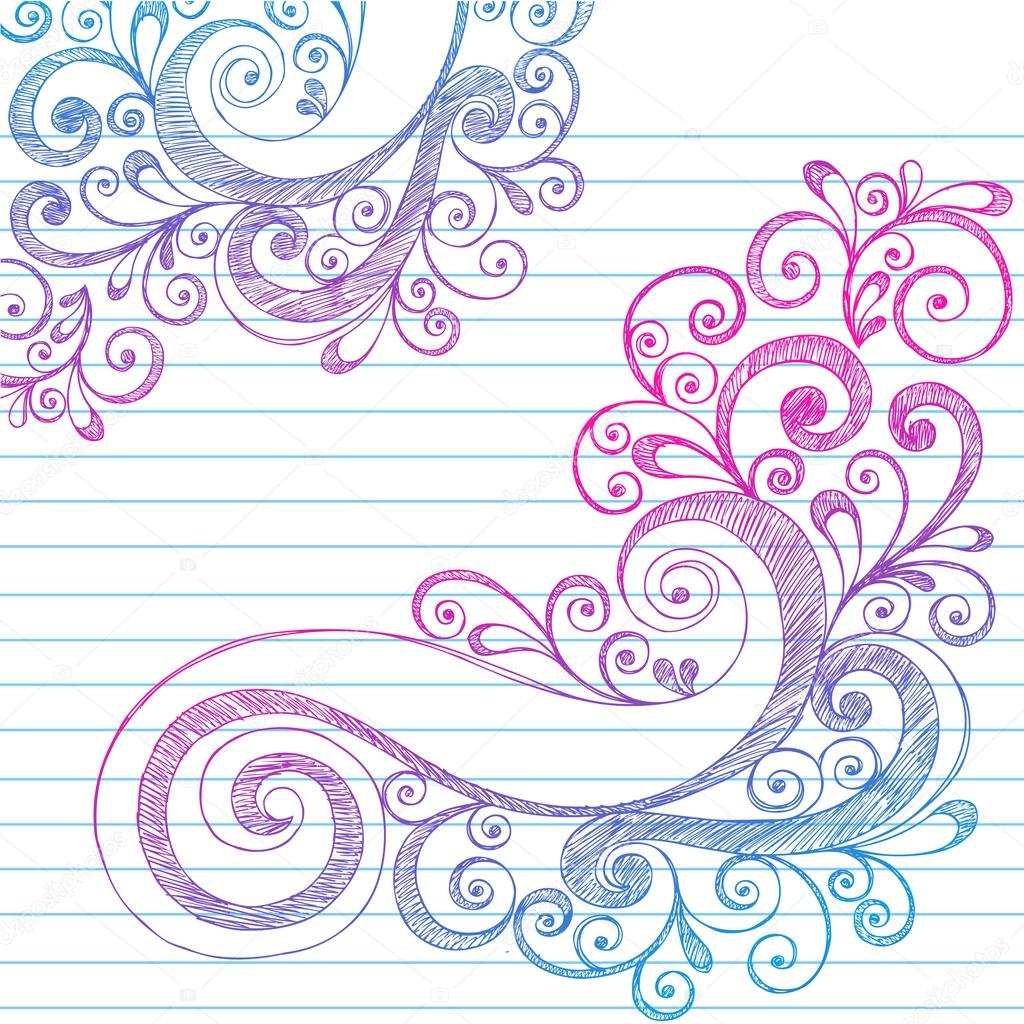 Drawn number swirly Drawn Doodles Stock Abstract Sketchy