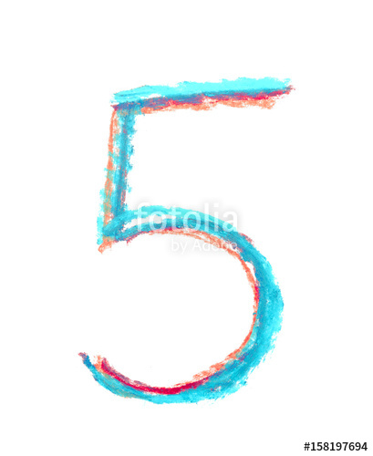 Drawn number symbol #3